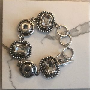 Stella & Dot silver bracelet